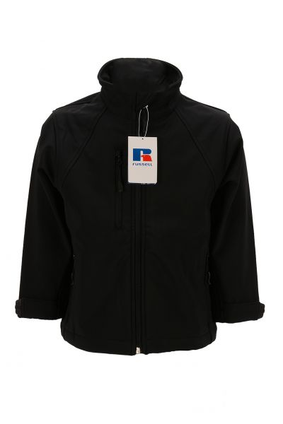 RUSSELL KIDS SOFTSHELL JACKET BLACK