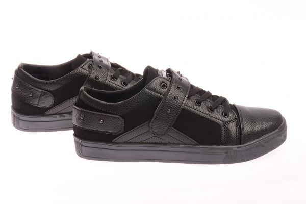 "Sportliche Low Top Sneaker ""Void"" - black 8001"