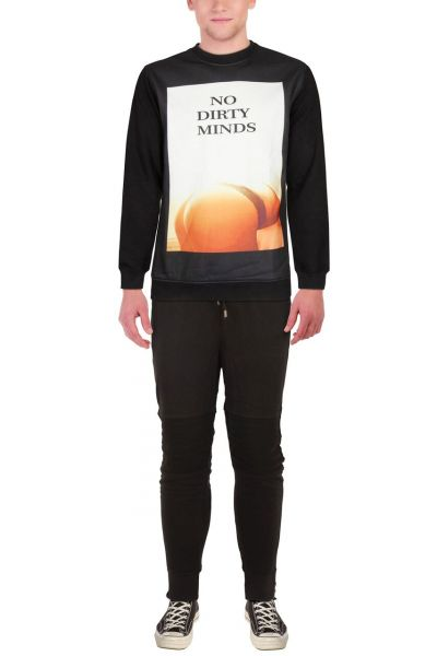 "*GEHEIMTIPP* Pullover ""NO DIRTY MINDS"" black"