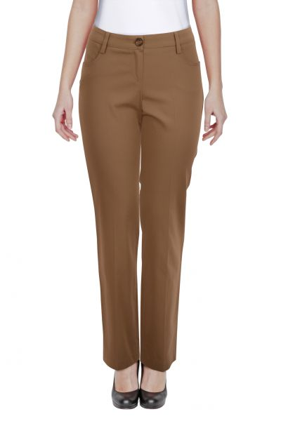 Latsaro-Siloure Bundfaltenhose - brown