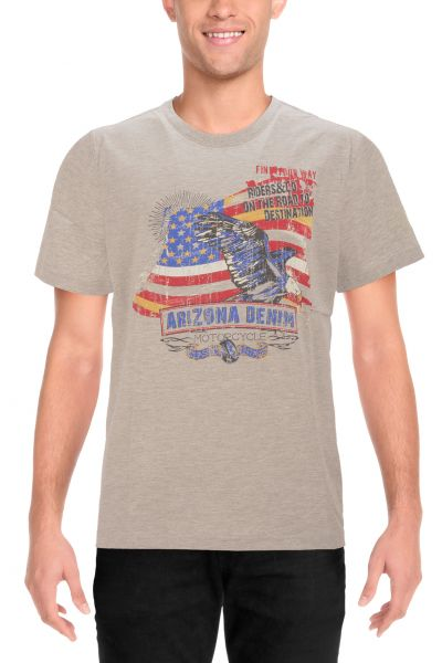 "Arizona Denim T-Shirt ""Eagle"" - grey"