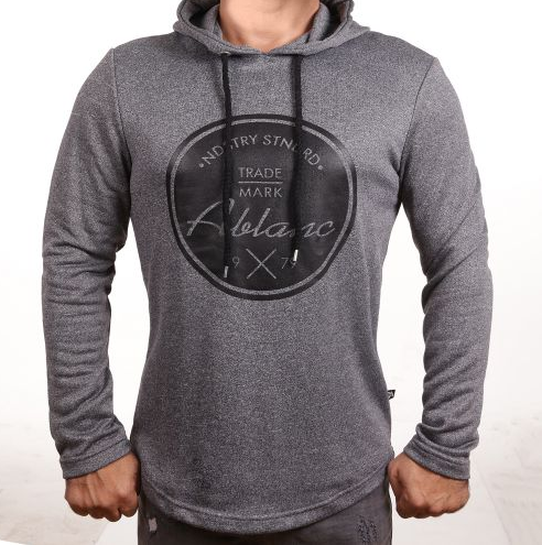 "D & A Hoodie ""Ablanc"" - black, grey, anthracite"