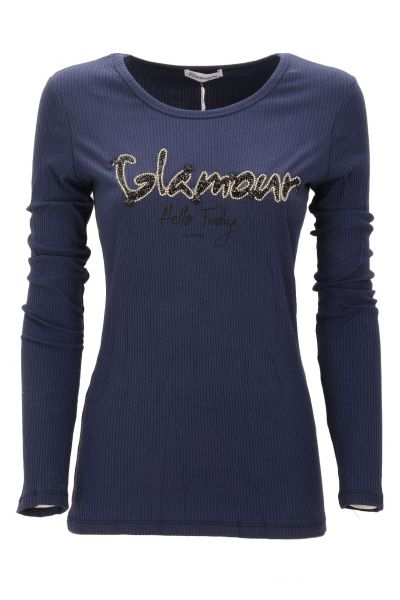 "Longsleeve ""Friday Glamour"" - navy"