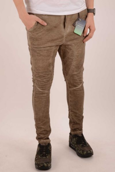 "*GEHEIMTIPP* Skinny-Fit Hose ""Melbourne"" - anthracite/brown"