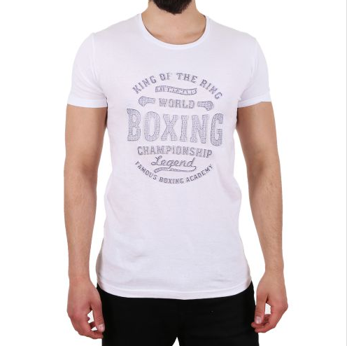 "D & A Slim-Fit T-Shirt ""Boxing"" - white, grey, black"