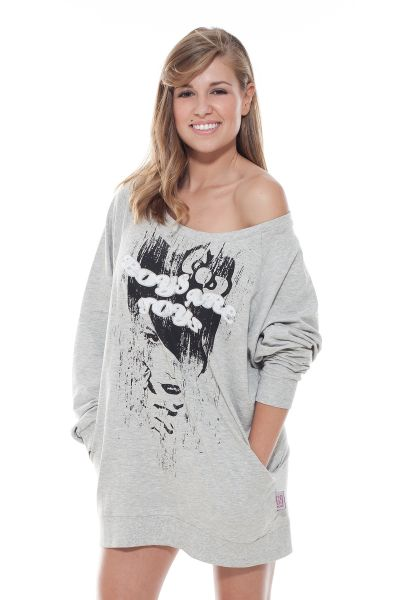 """Collection 69 Oversized Sweat """"Boys are toys"""" - grey"""