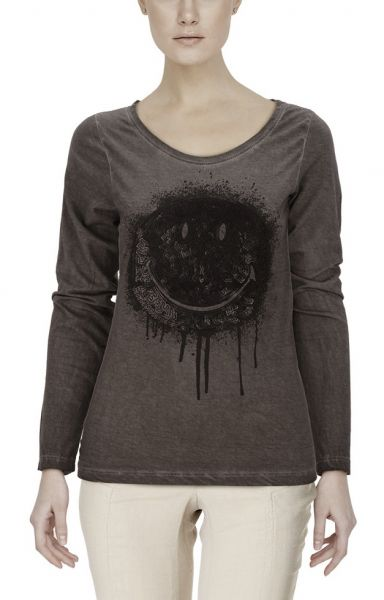 "*GEHEIMTIPP* Longsleeve ""Smiley"" dark grey"