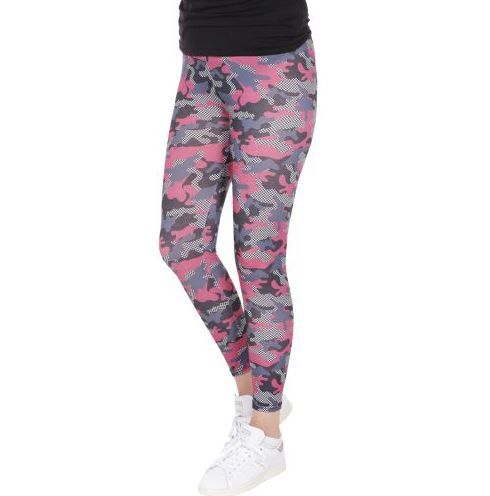 D & A Leggings im technical Design - pink, grey