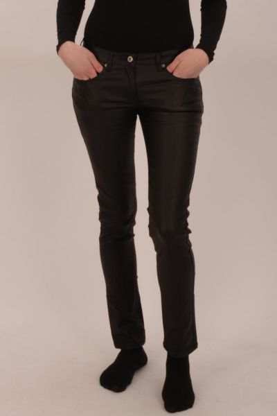 *GEHEIMTIPP* Slim-Fit Lederimitat Hose - black 801384