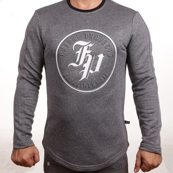 "D & A Sweatshirt ""FP"" - grey, anthracite"