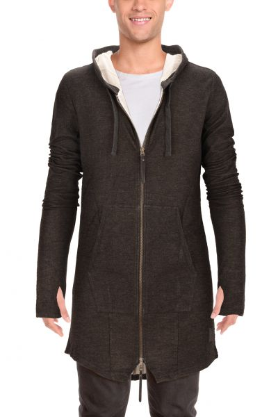 "*GEHEIMTIPP* Long-Cardigan ""Michael"" - grey/anthracite"