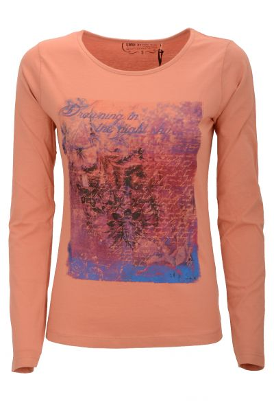 "Longsleeve mit Print ""Flowers On"" - pink/rose"