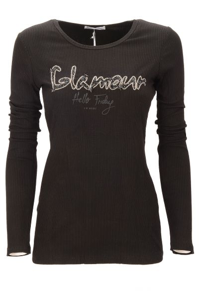 "Longsleeve ""Friday Glamour"" - black"