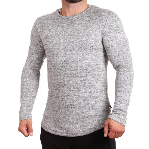 D & A Basic Sweatshirt - grey melange