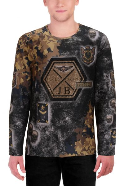 "Lässiges Longsleeve ""Patriot"" - camouflage/gold - 15002"