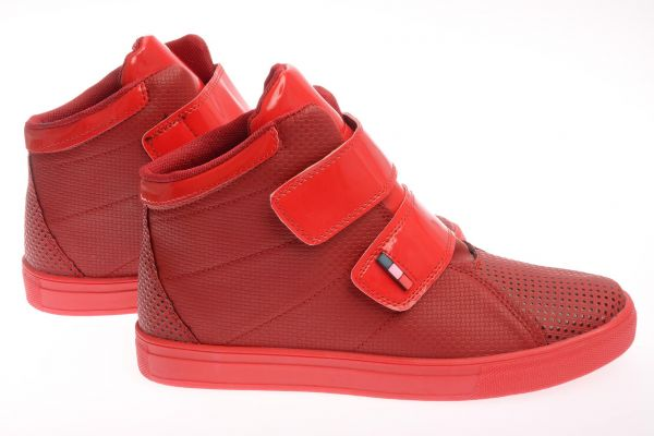 "Sportliche High-Top Sneaker ""Red Orient"" - red 1107"