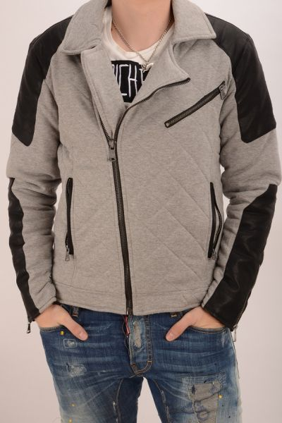 One Public Jersey Biker-Sweatjacke - grey
