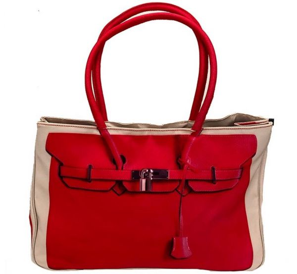 Modische Shopping-Bag - red