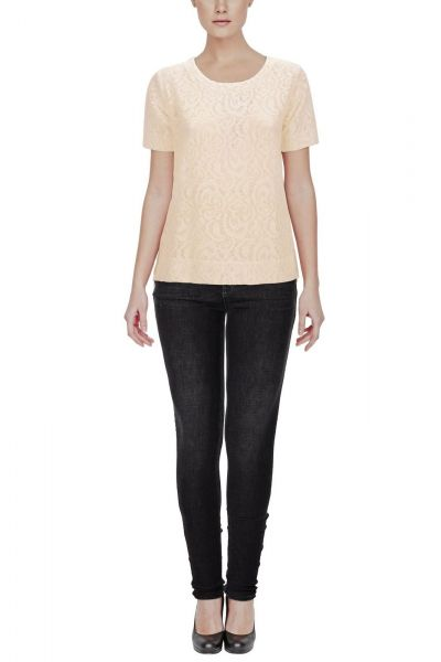 b.young Salace lace t-shirt - white