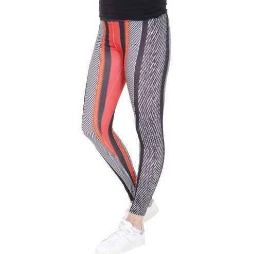 D & A Leggings im technical Design - black, red, grey