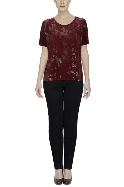 "Laura Scott Shirt ""Glitter"" - bordeaux"