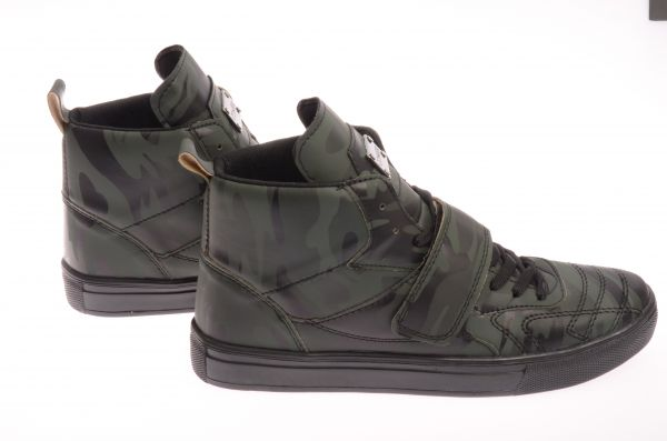 "Sportliche High-Top Sneaker ""Pampel"" - green camo"