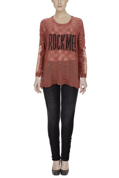 "*GEHEIMTIPP* Pullover ""ROCK ME"" red & black"