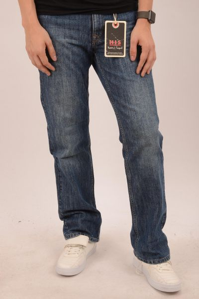 "H.I.S Jeans ""Henry"" Straight-Cut Jean - medium blue 3010"